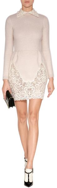 Valentino Wool-Mohair Beaded Dress