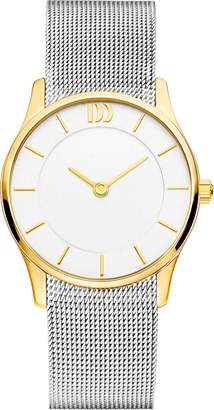 Danish Design IV65Q1063 Two Tone Silver Tone Gold Bezel Dial SS Stainless Steel Mesh Women's Watch