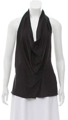 DKNY Silk Halter Top