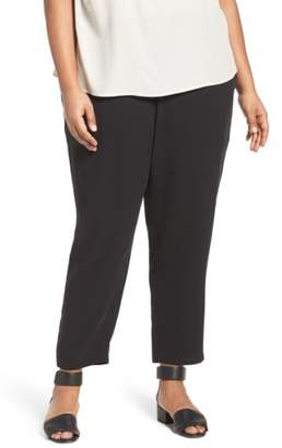 Eileen Fisher Silk Georgette Crepe Ankle Pants