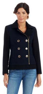 MICHAEL Michael Kors Double Breasted Pea Coat