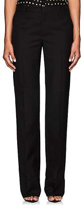 Saint Laurent Women's Flat-Front Wool Trousers