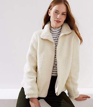 LOFT Petite Plush Jacket