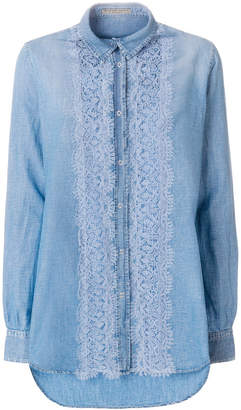 Ermanno Scervino lace panel shirt