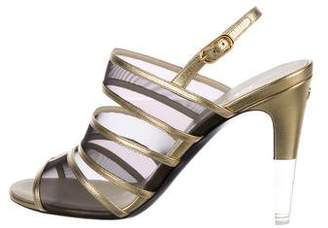 Chanel 2016 Open-Toe Slingback Sandals
