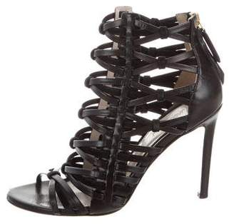 Jason Wu Leather Caged Sandals