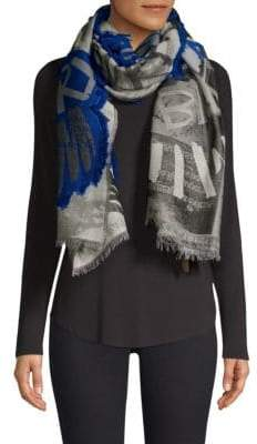 Burberry Graffiti Fil Coupe Textured Scarf