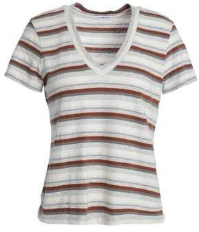 James Perse Striped Slub Cotton-Blend Jersey T-Shirt