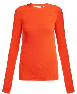 Helmut Lang Ribbed Knit Top - Womens - Orange