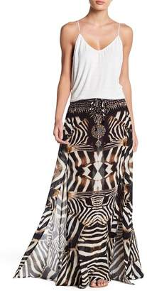 Shahida Parides Convertible Printed Silk Maxi Skirt