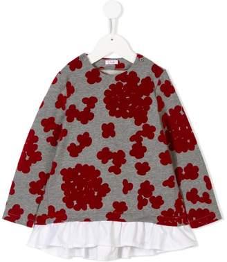 Il Gufo floral layered sweatshirt