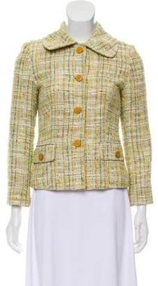 Dolce & Gabbana Tweed Button-Up Blazer