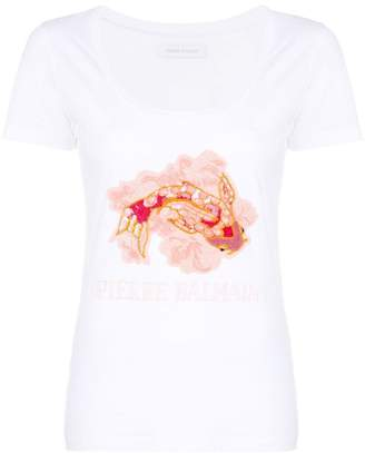 Pierre Balmain fish appliqué T-shirt