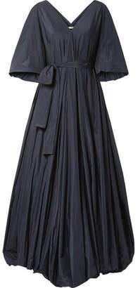 The Row Leegan Taffeta Gown - Navy
