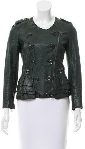 3.1 Phillip Lim3.1 Phillip Lim Leather Long Sleeve Jacket