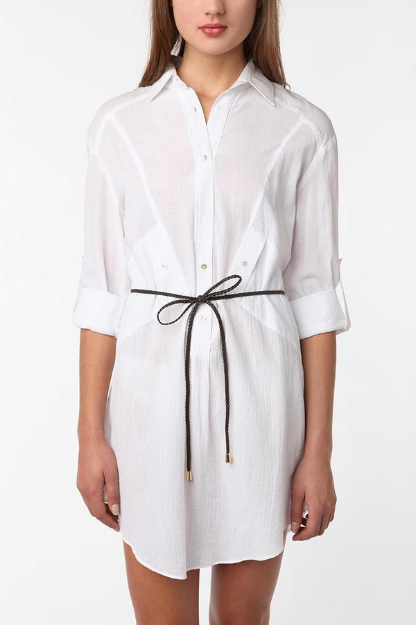 Costa Blanca Gauze Shirtdress