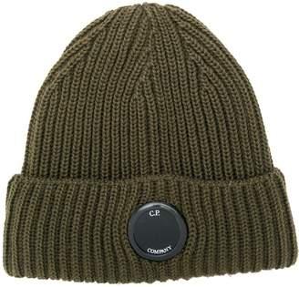 C.P. Company ribbed beanie hat