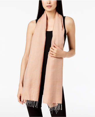 Eileen Fisher Cotton & Silk Striped Scarf