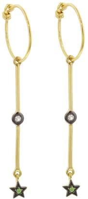 Ileana Makri EYE M by Sapphire Star Drop Hoop Earrings - Yellow Gold