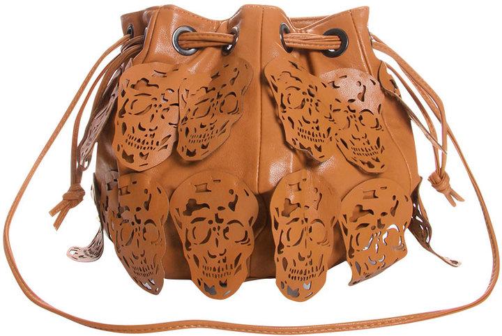 Celeste Skull Fringe Duffle Bag