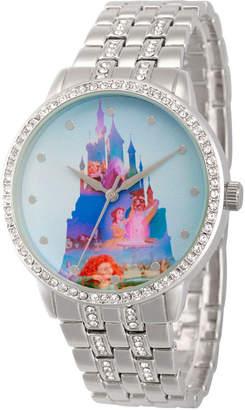 Disney Princess Womens Silver Tone Bracelet Watch-Wds000066