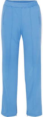 Ganni Dubois Striped Piqué Track Pants - Blue