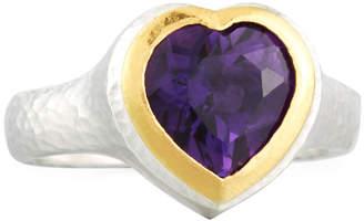 Gurhan Romance Amethyst Heart Ring, Size 7