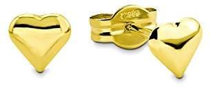 Amor Women's Heart Stud Earrings 585 Yellow Gold 0.5 cm – 2015248