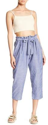 Abound Striped Paperbag Pants