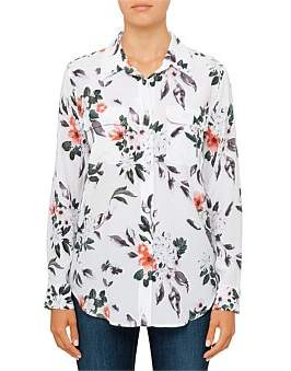 Equipment Floral Unveiling Printed Slim Signature Silk Shirt