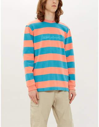 Billionaire Boys Club Striped logo-print cotton top
