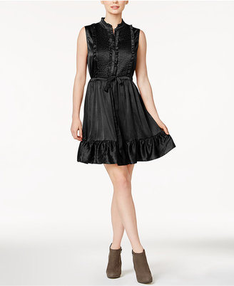 Maison Jules Ruffled Tuxedo A-Line Dress, Created for Macy's $89.50 thestylecure.com