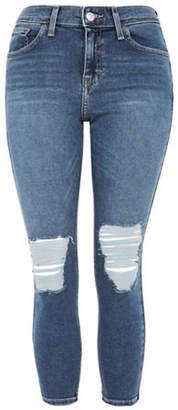 Topshop PETITE Ripped Jamie Jeans 28-Inch Leg