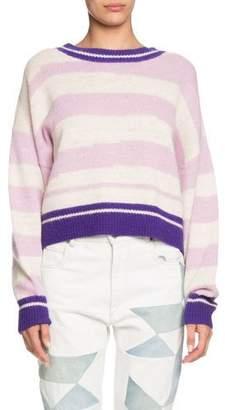 Etoile Isabel Marant Glowy Striped Alpaca-Wool Sweater