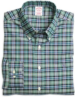 Brooks Brothers Non-Iron Regular Fit Green Sport Shirt
