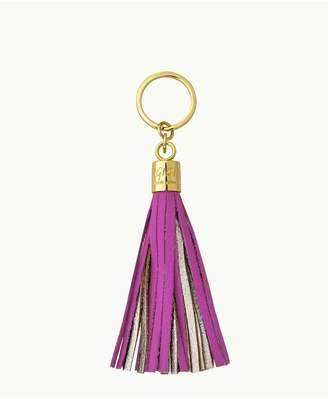 GiGi New York Tassel Key Chain In Orchid And Gold