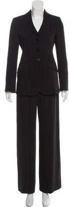 Armani Collezioni Vintage Striped Pantsuit