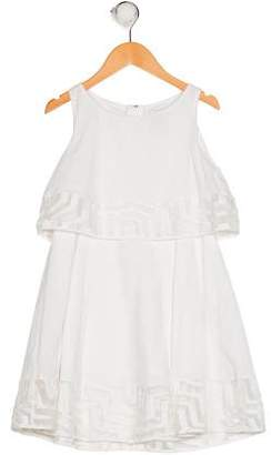 Milly Minis Girls' Embroidered Sleeveless Dress