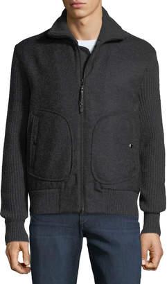 Rag & Bone Men's Carson Wool Zip-Front Jacket