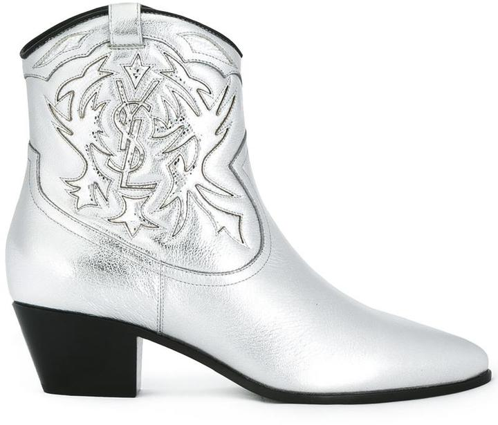 Saint Laurent 'Rock 40' cowboy ankle boots