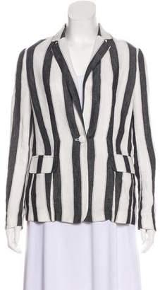 Frame Striped Woven Blazer