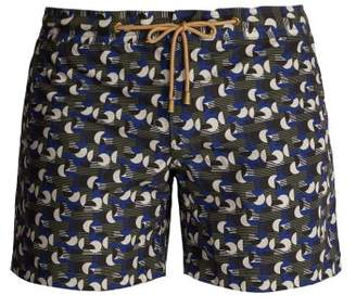 Thorsun Titan Fit Sol Print Swim Shorts - Mens - Blue Multi