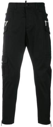 DSQUARED2 zip-detail cropped trousers