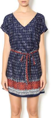 Glam Navy Printed Dress