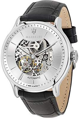 Epoca MASERATI Men's 'Epoca' Quartz Stainless Steel and Leather Casual Watch