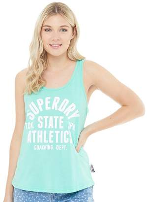 Superdry Womens Trackster Vest Hot Mint Marl