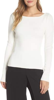 Eliza J Bow Back Sweater