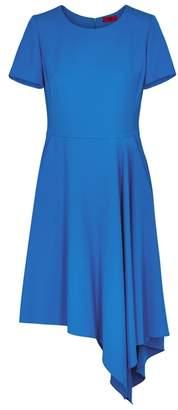 HUGO Cobalt Blue Asymmetric Dress
