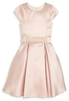 Girl's Belted Fit-&-Flare Dress $259 thestylecure.com