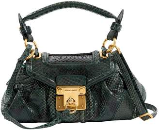 Rena Lange Green Python Handbag